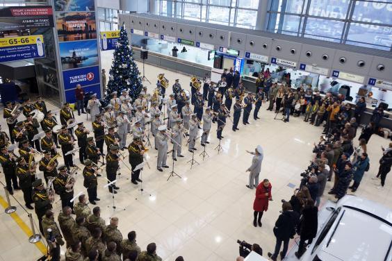 У Харківському аеропорту вшанували «кіборгів»