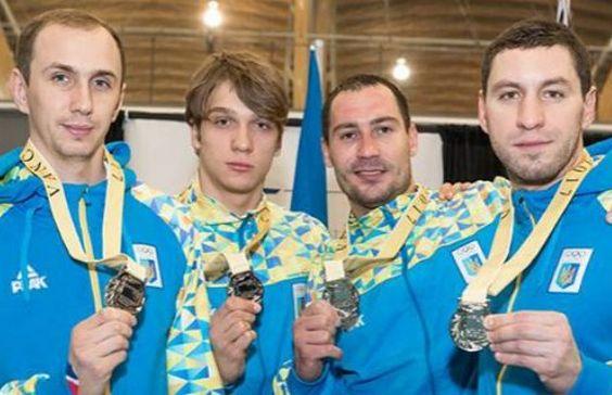Мужская сборная Украины по фехтованию забрала из Ванкувера серебро