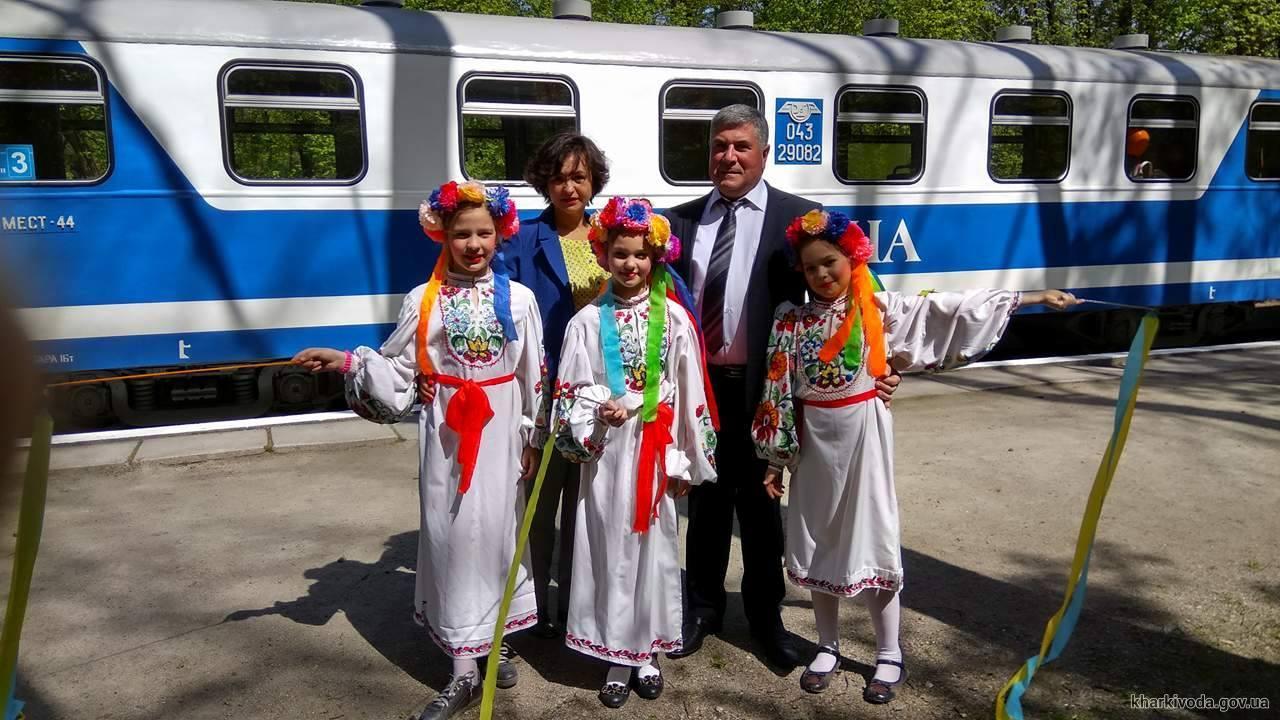 Открыто движение поездов на детской железной дороге (ФОТО)