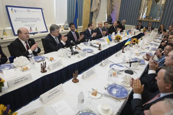 Петр Порошенко провел встречу с представителями ведущих американских компаний