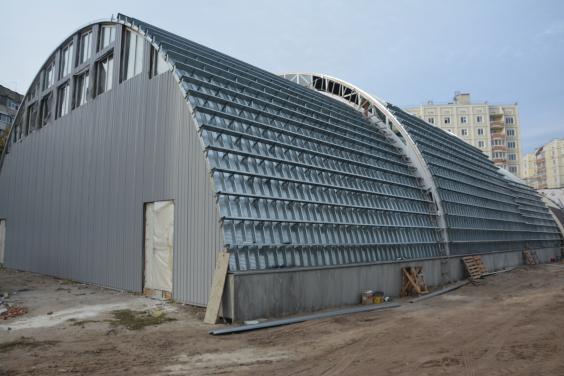 Строительство спорткомплекса в Песочине закончат в середине декабря